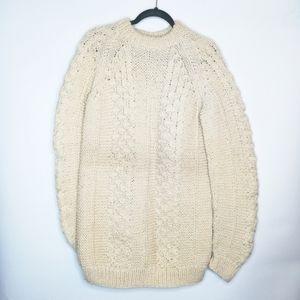 Greek Fisherman Sweater Wool Chunky Knit Handmade